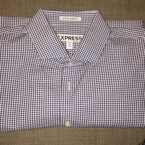 Men's express slim fit button down